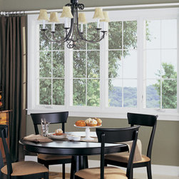 Casement & Awning Fiberglass Windows - Dining Room showing Casement and Awning Style Fiberglass Replacement Windows - Photo by Infinity from Marvin