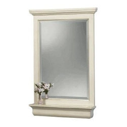 Foremost - Foremost Cottage 24in. Vanity Mirror with Shelf, Antique White Finish (CTAM2432) - Foremost CTAM2432 Cottage 24in. Vanity Mirror w/Shelf, antique white finish, White