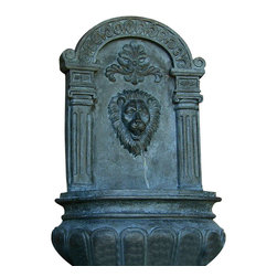 Sunnydaze Decor - Imperial Lion Outdoor Wall Fountain, Lead - The lion's share. Add a little old-world artistry along with the soothing sound of water to your deck, patio or yard with this wall fountain. It has the look and feel of its stone counterparts without the high price tag.