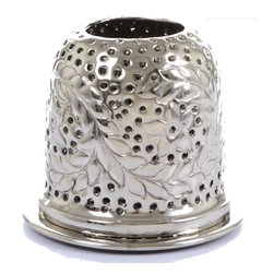 "Concepts Life - Concepts Life Candle Holder  Star Gazer Tealight  6"" - Dress up your windowsill with these silver Star Gazer Tealight Lanterns and add glamour and romance to your home. These lanters have ornate detailing and perforated patterns that will add a warm glow to your dinner table, whether inside our ouside.  Aluminum votive candle holder Lantern has floral design Perforated detailing allows light to shine through Comes wrapped in gift-box Dimensions: 6""l x 6""d x 6""h Weight: 1"" lb"