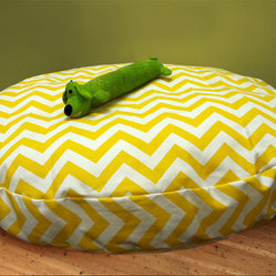 Large Round Zig Zag Chevron Dog Bed with Insert by Maison Boutique