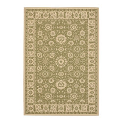 """Safavieh - Courtyard Green/Brown Area Rug CY6126-24 - 8' x 11'2"""" - Safavieh takes classic beauty outside of the home with the launch of their Courtyard Collection. Made in Belgium with enhanced polypropylene for extra durability, these rugs are suitable for anywhere inside or outside of the house. To achieve more intricate and elaborate details in the designs, Safavieh used a specially-developed sisal weave."""