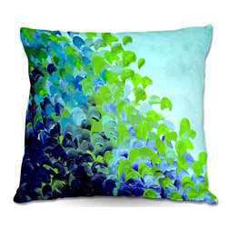 DiaNoche Designs - Pillow Woven Poplin from DiaNoche Designs by Julia Di Sano - Creation in Color B - Toss this decorative pillow on any bed, sofa or chair, and add personality to your chic and stylish decor. Lay your head against your new art and relax! Made of woven Poly-Poplin.  Includes a cushy supportive pillow insert, zipped inside. Dye Sublimation printing adheres the ink to the material for long life and durability. Double Sided Print, Machine Washable, Product may vary slightly from image.