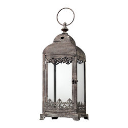 Sterling Industries - Sterling Industries 128-1032 Hurricane Lantern In Distressed Finish - Square - Lantern (1)