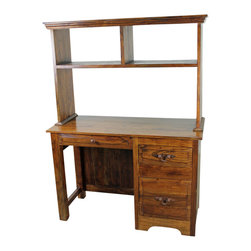 """San Miguel Student Desk - This San Miguel Student Desk is part of our newest lines of furniture. Clean lines, exclusive designs and as always, 100% Solid wood construction. The San Miguel line needs no introduction. This line stands alone from the rest with matching pieces available for Every room in your home. Click on """"collection"""" to see more. No veneers are used, Only solid planks of wood with a soft hand-rubbed wax. The Student Desk is perfect for a dorm room, Small house or an apartment. For larger homes, perhaps this goes well as a guest room office accent, Small home office or maybe for a much needed """"office"""" just off the kitchen? Many options with this versatile desk."""