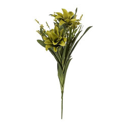 iMax - iMax Essentials Green Apple Floral Bundle - Add a color coordinated organic boost to your decor with our beautiful floral arrangement, part of the Green Apple collection from Essentials by Connie Post.