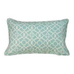 Jiti Pillows - Moroccan Outdoor Decorative Pillow in Blue - Able to withstand the elements, yet comfortable and inviting. Place these vibrant pillows both indoors and outdoors to instantly coordinate your living spaces. Features: -Decorative pillow. -Color: Blue. -Material: 100% Poly. -Poly insert. -Hidden zipper. -Indoor or outdoor. -Machine washable.