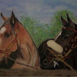 Two Horses (Original) by Georgie Mcneese - Loosely based on Zenyatta and Rachel Alexandra. It you are a racing fan, you know who they are.