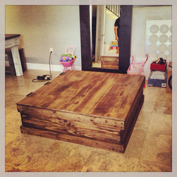 Truck Coffee Table / Storage Trunk - This item is currently in a unfinished form but will be completed based on your request. Whitewash, Stained, painted, or Unfinished as per your request.