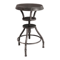 Austin Industrial Metal Bar Stool