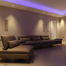 Contemporary Family Room by The Lighting Design Studio