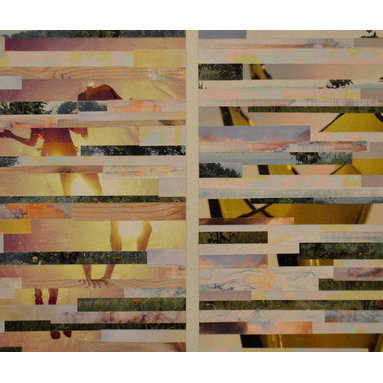 """""""Suspension""""  (Original) by Claire Elizabeth Stringer - Suspension is a diptych inspired by the idea of feminizing masculinity and softening toughness."""