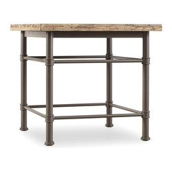 "Hooker Furniture - Hooker Furniture Arcata Lamp Table - The charismatic Arcata collection is crafted with metal bases and pine tops. Metal and Pine. Dimensions: 28""W x 28""D x 26""H."