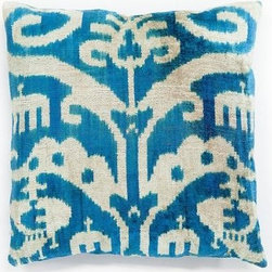 Margot Pillow - Ikat is still all the rage, and I love that this pillow is in velvet instead of the usual silk or cotton.