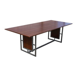 Lloyd Metal & Wood Dining Table
