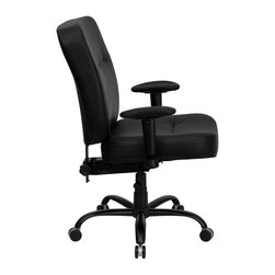 Flash Furniture - Flash Furniture Hercules Series 400 lb. Capacity Big and Tall Office Chair - This chair has been tested to hold up to 400 lbs.! Not only will this chair hold the above average person, but it is amazingly comfortable. Chair will appeal for users of all heights and weights because of its comfort and sturdy construction. Chair has several adjustable functionalities so users can achieve their custom fit. Height adjustable arms are an added bonus to add to the appeal of this chair.