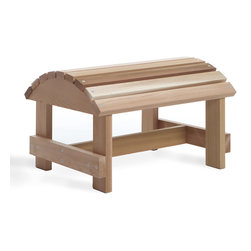 All Things Cedar - Cedar Outdoor Ottoman - Designed for most outdoor chairs and benches Item is made to order.