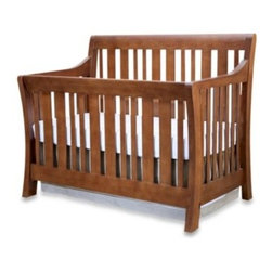 Nursery Smart - Nursery Smart Darby Convertible Crib in Coco - The Darby Convertible Crib has a beautiful warm finish and showcases a timeless, mission-inspired look. Versatile design grows with your child and is made from solid hardwood for lasting use. Uses standard full size crib mattress (sold separately).