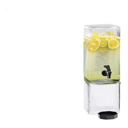 Cal Mil - 7.125W x 9.125D x 18.375 Square Clear Beverage Dispenser 1.5 Gallon Acyrlic 1 Ct - Showcase your beverages with this elegant and stylish beverage dispenser. Made from crystal clear glass or acrylic this dispenser elegantly displays colorful juices water iced tea and any other beverage of your choice. Each beverage dispenser features a removable ice chamber to keep your beverages cold and fresh