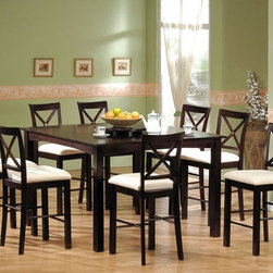 Acme Furniture - Newcastle 9 Piece Counter Height Table Set - 7860A-9set - Includes Counter Height Table and 8 Side Chairs