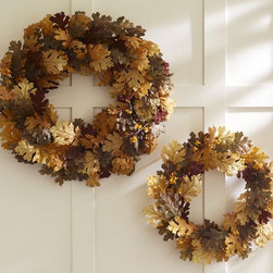 Faux Mixed Leaf Wreath - Hanging a wreath of any kind is a great way to kick off the season. I like to go with ones made with faux leaves, like this one from Pottery Barn, so that they last a few years.