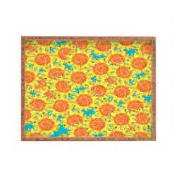 DENY Designs - Sharon Turner Sunflower Field Rectangular Tray - With DENY's multifunctional rectangular tray collection, you can use it for decoration in just about any room of the house or go the traditional route to serve cocktails. Either way, you��_��__ll be the ever so stylish hostess with the mostess!