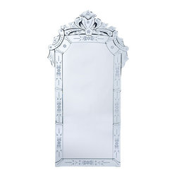 Venetian Glass Mirror - I love the over-the-top ornate look of this Venetian Glass Mirror - and it's a great price. If you're looking to add a little glam to your bathroom, this is a great way to do it.