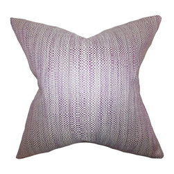 "The Pillow Collection - Zebulun Woven Pillow Purple 20"" x 20"" - Offer a relaxing and homey space to your guests by adding this beautiful decor piece. This throw pillow features a pretty purple hue and a woven design. Place this 20"" pillow onto your sofa, bed or sectional for extra comfort and texture. Made from a combination of high-quality materials: 64% rayon and 36% polyester."