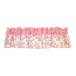 Trend Lab - Paisley Park Valance - Why not go all the way? and complete your babys nursery with this wonderful accessory? The Paisley Park - Window Valance by Trend Lab features 9 ultrasuede tabs at the top that allow for easy hanging. Measures 53 in x 15 in and fits a standard size window. Care instructions - Machine wash cold with like colors; Gentle cycle; Do not bleach; Tumble dry low or line dry; Do not dry clean; Do not iron.