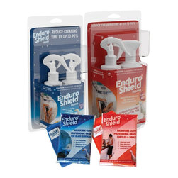 EnduroShield - Enduroshield Home Twin Pack DIY Kits for Protecting Glass/Tile/Grout - EnduroShield's Bonus Twin Pack comes complete with one Large Glass DIY kit, One Tile & Grout DIY kit, and 2 x bonus microfiber cleaning cloths, perfect for maintaining your EnduroShield Protected surfaces.