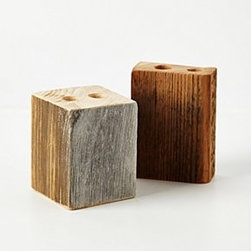 """Anthropologie - Timber Trail Toothbrush Holder - By Tyler KingstonNo two are exactly alikeSalvaged woodSmall: 4.5""""H, 3.5""""L, 1.5""""WLarge: 4""""H, 3.5""""L, 3.5""""WHandmade in USA"""