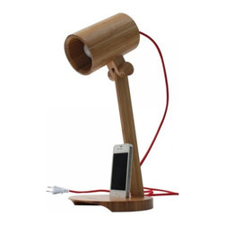 ParrotUncle - Bamboo LED Desk Lamp with Phone Holder - Add a touch of calmness and simplicity to any room in your home with this bamboo LED desk lamp. The natural material of this lamp makes it environmental friendly and good for your health. It provides adequate light for your reading or studying, and the rotated head allows you to adjust the height according to your need. The iphone holder offers you more convenience.