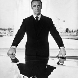 """Sean Connery 007 Reflection, 48"""" X 72"""" - Silver Gelatin, Limited Edition, Signed and Numbered (editions of 50 with 10 artists proofs)"""