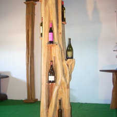 eclectic wine racks by woodpieces