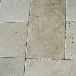 Classico French Pattern Paver Travertine - Classico Tumbled French Pattern Paver Travertine-3 cm thickness