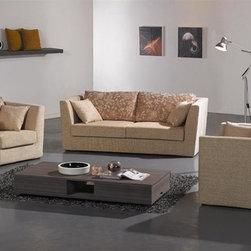 Mezzano Fabric Sofa Set YF6109 - This three pieced fabric sofa set includes the 3 seater sofa as well as 2 love seats