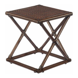 Selamat Designs - Selamat Designs Clove Riva Bunching Table - Island TimeSet your watch to island time and your glass on top of this Clove Riva Bunching Table from Selamat Designs. Crafted from woven rattan and wrapped with leather, this tropical side table will make you feel like you're kicking back on an island getaway. This table is lightweight and easy to move, so you can easily transport it from your living room to your lanai when you need a change of scenery.Made in the PhilippinesCertified green by the Sustainable Furnishings Council