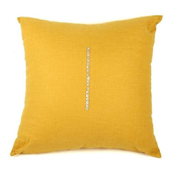 Zentique - Zentique Pillow-Canary Yellow - Other colors available-Chocolate Brown, Mink, Natural, Olive Green, Blue-Grey, Canary Yellow, Deep Red, Sky Blue, Soft Green