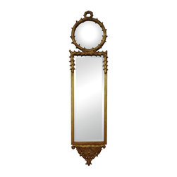 Joshua Marshal - Antique Reproduction Wall Mirror With Convex Top Mirror - Antique Reproduction Wall Mirror With Convex Top Mirror