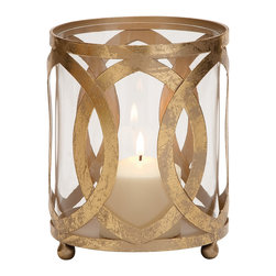 Classy Styled Metal Glass Candle Lantern - Description: