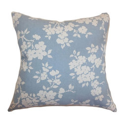 Pillow Collection - The Pillow Collection Vieste Floral Pillow - P18-D-21007-CFA-SMOKE-C55L45 - Shop for Pillows from Hayneedle.com! Pretty posies are close at hand year round with the sweet style of The Pillow Collection Vieste Floral Pillow. Made of 55% soft cotton and 45% linen this feminine square pillow features a plush 95/5 feather/down insert for a luxurious softness. The delicate floral print adds a contemporary charm to your home while the available color options let you customize the look.About The Pillow CollectionIdentical twin brothers Adam and Kyle started The Pillow Collection with a simple objective. They wanted to create an extensive selection of beautiful and affordable throw pillows. Their father is a renowned interior designer and they developed a deep appreciation of style from him. They hand select all fabrics to find the perfect cottons linens damasks and silks in a variety of colors patterns and designs. Standard features include hidden full-length zippers and luxurious high polyester fiber or down blended inserts. At The Pillow Collection they know that a throw pillow makes a room.