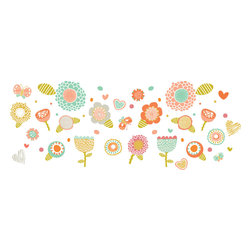 The Lovely Wall Co. - Folk Floral Wall Decal - Folk Floral - Wall Decal