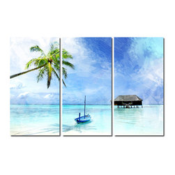 Ready2HangArt - Ready2hangart Alexis Bueno Tropical (3-PC) Canvas Wall Art Set - This Tropical canvas art set, offers the essence of a tranquil life on the islands. It is fully finished, arriving ready to hang on the wall of your choice.