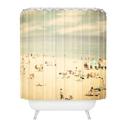 DENY Designs - Shannon Clark Vintage Beach Shower Curtain - Who says bathrooms can't be fun? To get the most bang for your buck, start with an artistic, inventive shower curtain. We've got endless options that will really make your bathroom pop. Heck, your guests may start spending a little extra time in there because of it!