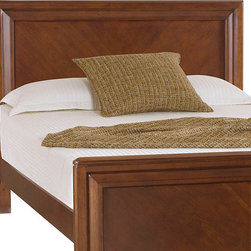 "American Drew - American Drew Expressions King Panel Headboard in Rootbeer - Expressions is a contemporary style with simple design influences that accentuate any setting and a perfect scale that fits most bedrooms. The finish is a rich, ""root beer"" color finish with matched Cherry veneers on case tops and beds; adding to the design of the high end contemporary style. Heavy drawer frames that not only add weight, but act as handles to open drawers and help create a clean look to Expressions. Multiple unique sleep options and storage possibilities add style and function."