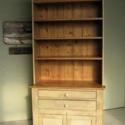 Solid Pine Living Room Hutch - Made by http://www.ecustomfinishes.com