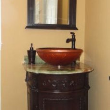 Traditional Powder Room by Design Solution Group