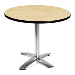OFM - OFM 36 Round Flip-Top Multi-Purpose Table, Oak - This 36 round table looks elegant in both lunch and meeting rooms and looks great with the model 310 stack chairs. The banding makes the edges smooth and gives it a finished appearance. The honeycomb core makes the table both lightweight and sturdy.