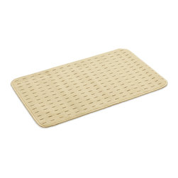 "Kempf - Washable Anti Slip Rug in a variety of sizes, Ivory, 26"" X 39"" - Made of poly propylene fibers, this soft rug has a gel backing to prevent it from slipping . Helps in trapping dirt and moisture. Machine washable. 1/4 "" thick for low clearance to facilitate door openings. Also ideal to put near a pet door, soft for the pet to step on  and to catch all the dirt and moisture from the paws!"