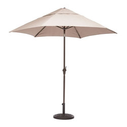 ZUO - South Bay Umbrella - Enjoy a refreshing mojito in the shade of the South Bay Table Set. Warm colors and a casual weave make this the perfect pool-side resting space. Pieces sold separately.